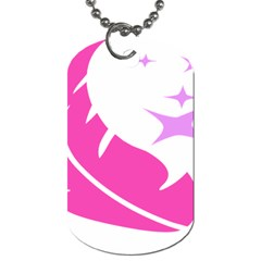 Bird Feathers Star Pink Dog Tag (one Side)