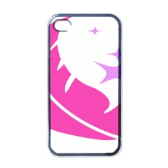 Bird Feathers Star Pink Apple Iphone 4 Case (black) by Alisyart
