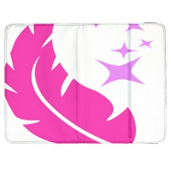 Bird Feathers Star Pink Samsung Galaxy Tab 7  P1000 Flip Case