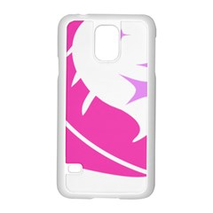 Bird Feathers Star Pink Samsung Galaxy S5 Case (white)