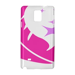 Bird Feathers Star Pink Samsung Galaxy Note 4 Hardshell Case by Alisyart