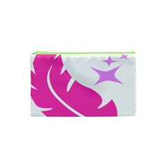 Bird Feathers Star Pink Cosmetic Bag (xs) by Alisyart