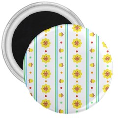 Beans Flower Floral Yellow 3  Magnets