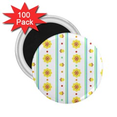 Beans Flower Floral Yellow 2 25  Magnets (100 Pack)  by Alisyart