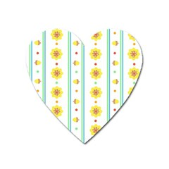 Beans Flower Floral Yellow Heart Magnet by Alisyart