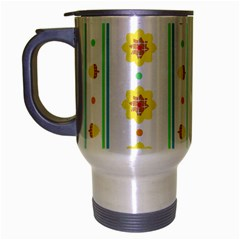 Beans Flower Floral Yellow Travel Mug (silver Gray) by Alisyart