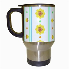 Beans Flower Floral Yellow Travel Mugs (white) by Alisyart
