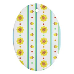 Beans Flower Floral Yellow Oval Ornament (two Sides) by Alisyart