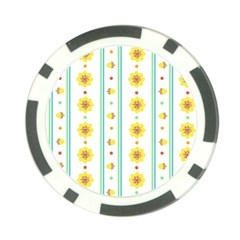 Beans Flower Floral Yellow Poker Chip Card Guard