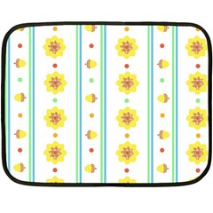 Beans Flower Floral Yellow Fleece Blanket (mini) by Alisyart