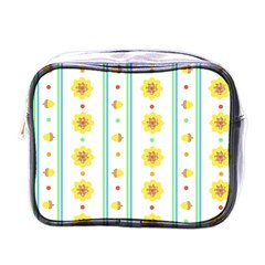 Beans Flower Floral Yellow Mini Toiletries Bags by Alisyart