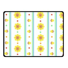 Beans Flower Floral Yellow Fleece Blanket (small) by Alisyart