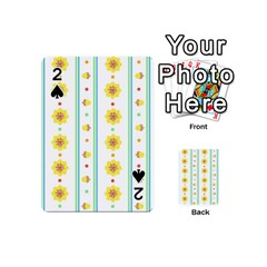 Beans Flower Floral Yellow Playing Cards 54 (mini)  by Alisyart