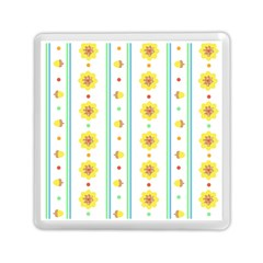 Beans Flower Floral Yellow Memory Card Reader (square)  by Alisyart