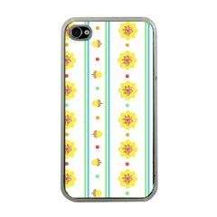 Beans Flower Floral Yellow Apple Iphone 4 Case (clear) by Alisyart