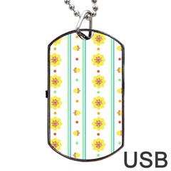Beans Flower Floral Yellow Dog Tag Usb Flash (one Side) by Alisyart