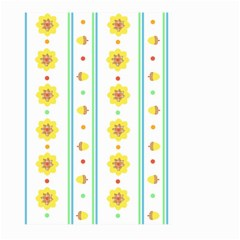 Beans Flower Floral Yellow Large Garden Flag (two Sides) by Alisyart