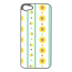 Beans Flower Floral Yellow Apple Iphone 5 Case (silver) by Alisyart