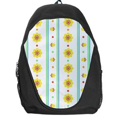 Beans Flower Floral Yellow Backpack Bag by Alisyart