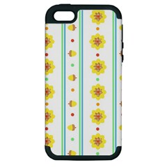 Beans Flower Floral Yellow Apple Iphone 5 Hardshell Case (pc+silicone)