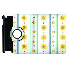 Beans Flower Floral Yellow Apple Ipad 3/4 Flip 360 Case by Alisyart