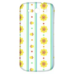 Beans Flower Floral Yellow Samsung Galaxy S3 S Iii Classic Hardshell Back Case by Alisyart