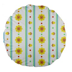 Beans Flower Floral Yellow Large 18  Premium Round Cushions by Alisyart