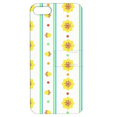 Beans Flower Floral Yellow Apple Iphone 5 Hardshell Case With Stand by Alisyart