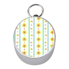 Beans Flower Floral Yellow Mini Silver Compasses by Alisyart
