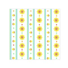 Beans Flower Floral Yellow Small Satin Scarf (square)