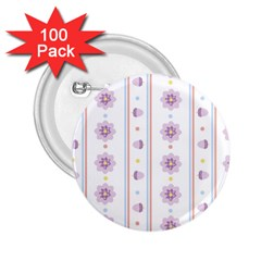 Beans Flower Floral Purple 2 25  Buttons (100 Pack)  by Alisyart