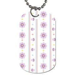 Beans Flower Floral Purple Dog Tag (two Sides)