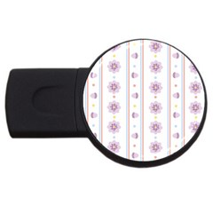 Beans Flower Floral Purple Usb Flash Drive Round (2 Gb) by Alisyart