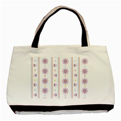 Beans Flower Floral Purple Basic Tote Bag by Alisyart