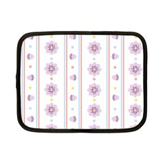 Beans Flower Floral Purple Netbook Case (small)  by Alisyart