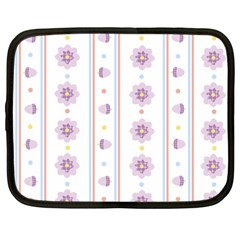 Beans Flower Floral Purple Netbook Case (large) by Alisyart