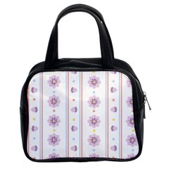 Beans Flower Floral Purple Classic Handbags (2 Sides) by Alisyart
