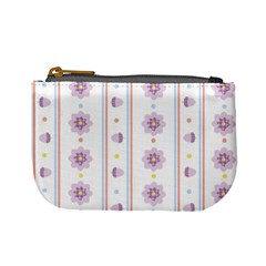 Beans Flower Floral Purple Mini Coin Purses