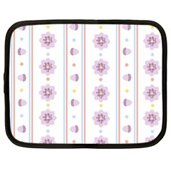 Beans Flower Floral Purple Netbook Case (xl)  by Alisyart