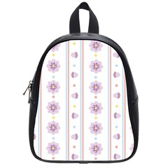 Beans Flower Floral Purple School Bags (small)