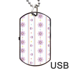 Beans Flower Floral Purple Dog Tag Usb Flash (two Sides) by Alisyart