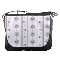 Beans Flower Floral Purple Messenger Bags by Alisyart