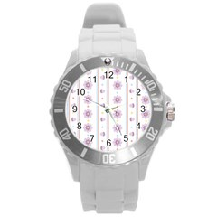 Beans Flower Floral Purple Round Plastic Sport Watch (l) by Alisyart