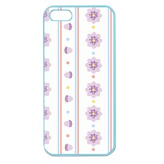 Beans Flower Floral Purple Apple Seamless Iphone 5 Case (color) by Alisyart