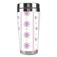 Beans Flower Floral Purple Stainless Steel Travel Tumblers by Alisyart