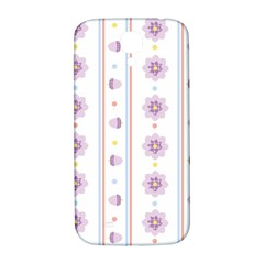 Beans Flower Floral Purple Samsung Galaxy S4 I9500/i9505  Hardshell Back Case by Alisyart