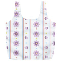 Beans Flower Floral Purple Full Print Recycle Bags (l)  by Alisyart