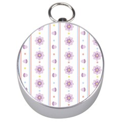 Beans Flower Floral Purple Silver Compasses by Alisyart