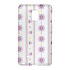 Beans Flower Floral Purple Galaxy Note Edge by Alisyart