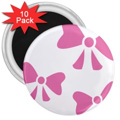 Bow Ties Pink 3  Magnets (10 Pack)  by Alisyart